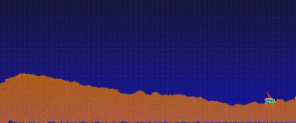 Jelly in the sky. Разработка игры на основе физической симуляции - Часть 2 Игры, Разработка, Jelly in the sky, Физика, Симуляция, Не мое, Гифка, Видео, Длиннопост