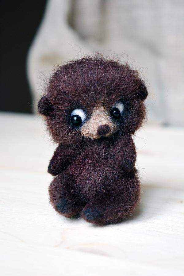 Мишки из шерсти шерсть, войлок, рукоделие без процесса, валяние, медведь, валяная игрушка, длиннопост