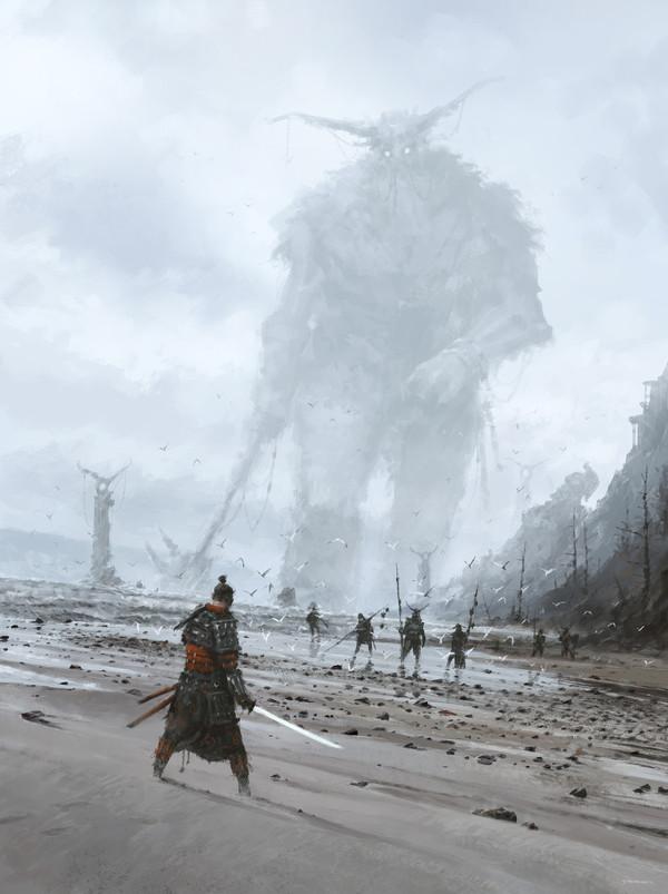 Незнакомец на чужой земле. 2d digital, Fantasy, Якуб Розальски, Игры, персонажи игр, концепт, арт