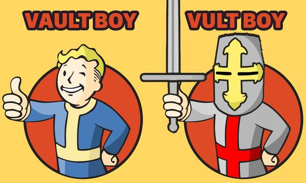 Deus vault Fallout, Vault Boy, Deus vult, Кривые руки