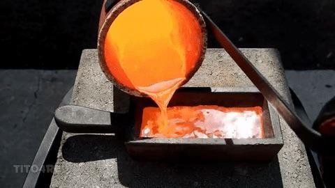 Медь в гифках Гифка, Химия, Лига химиков, Эксперимент, Медь, Металл, Длиннопост