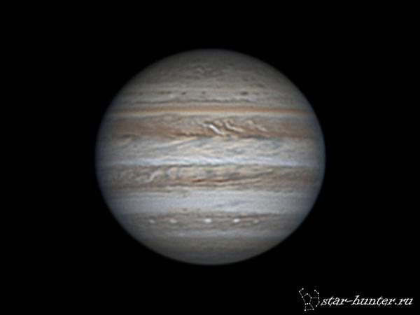 Юпитер, 27 апреля 2017 года, 21:12. Юпитер, астрофото, астрономия, космос, StarHunter, КраснодарБалкон, гифка
