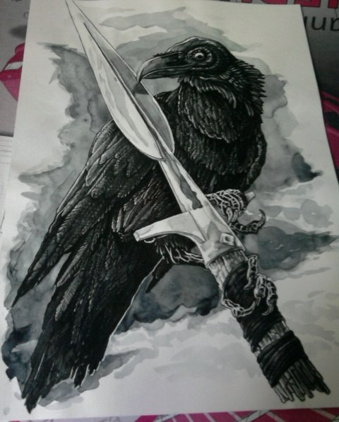 Odin викинги, древняя Скандинавия, ворон, Вотан, Бог Один, Мифы, мифология, графика