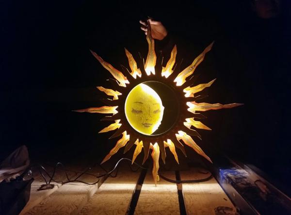 Ночник ночник, солнце, луна, длиннопост