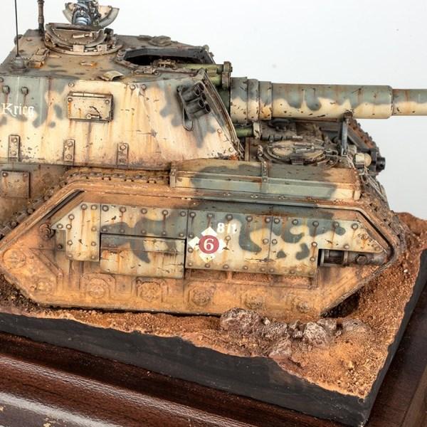 Armageddon Pattern Basilisk Warhammer 40k, Wh miniatures, Имперская гвардия, Василиск, Длиннопост, Моделизм