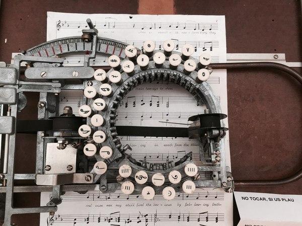 Нотная печатная машинка, 1936 год
