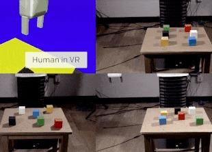 Проект OpenAI перенес обучение роботов в виртуальную реальность наука, новости, Робот, Виртуальная реальность, технологии, обучение машин, гифка