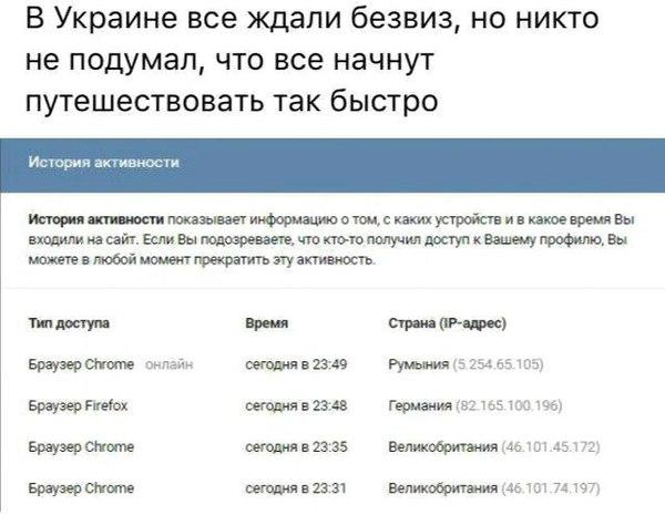 Отмена виз украинцам.