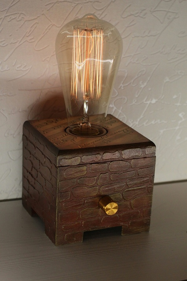 Светильники Светильник, ночник, своими руками, лампа эдисона, винтаж, длиннопост