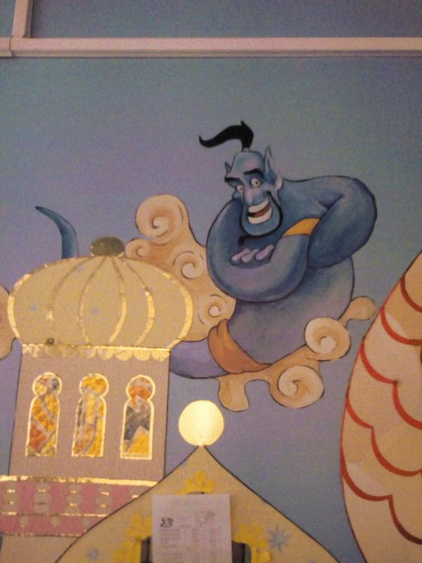 Рисуем в садике часть 2. Творчество, Детский сад, Коридор, Живопись, Роспись, Роспись стен, Дюймовочка, Walt Disney Company, Длиннопост