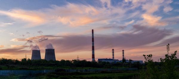 Закат над ТЭЦ-27 (Северная ТЭЦ), Мытищи. панорама, ТЭЦ, мытищи, фотография, закат, пейзаж, Небо, Битва закатов