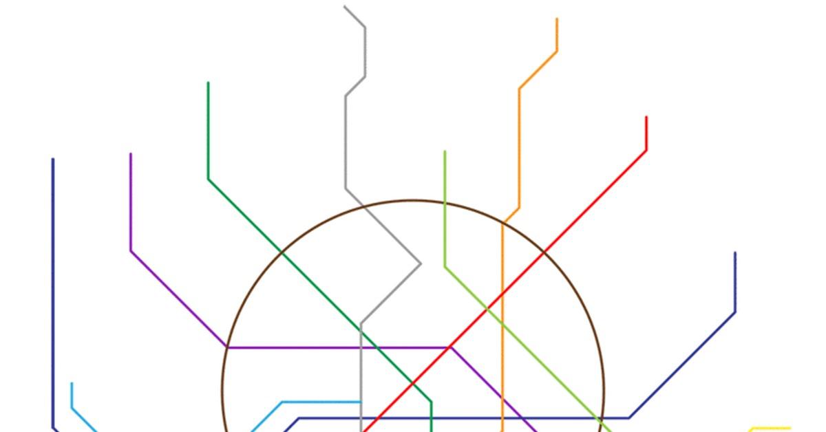 Станции метро картинка схема одной версий