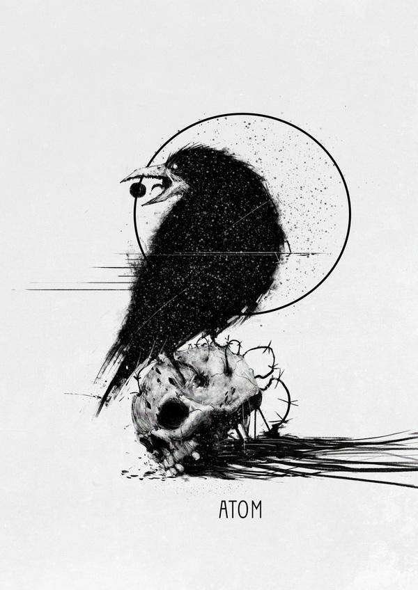 Всякое разное Иллюстрации, Atom, Dead nest, Длиннопост