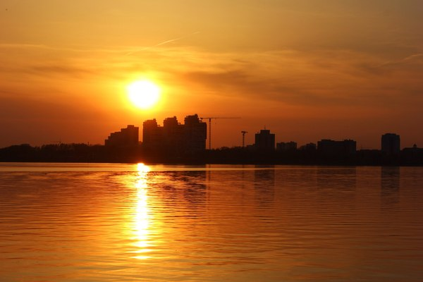 Закат с набережной в Казани Битва закатов, Казань