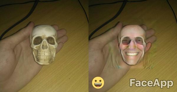 Крипота крипота, лицо, дед, череп, FaceApp