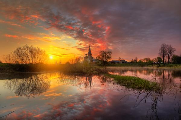 Рассвет в Дунилово… фотография, рассвет, Село Дунилово, май, красота