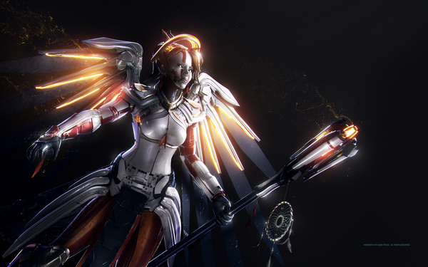 Роботизированные герои от Spizak overwatch, Adam Spizak, Mercy, Tracer, Reinhardt, reaper, Hanzo, Genji, длиннопост