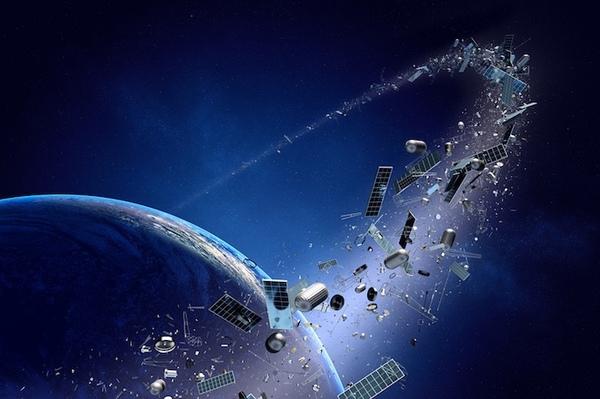 Ученые: космический мусор скоро уничтожит все спутники космический мусор, космос, спутник, обломки