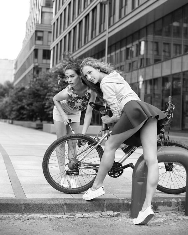 Насосницы-велосипедистки