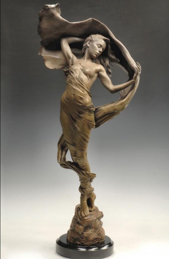 Скульптуры Карла Дженсена Скульптура, Бронза, Девушки, США, Длиннопост