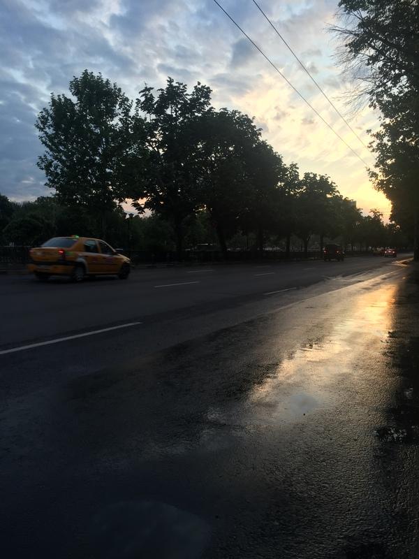 И ещё немного Румынии, Бухарест закат, румыния, автопутешествие, моё Ё, длиннопост