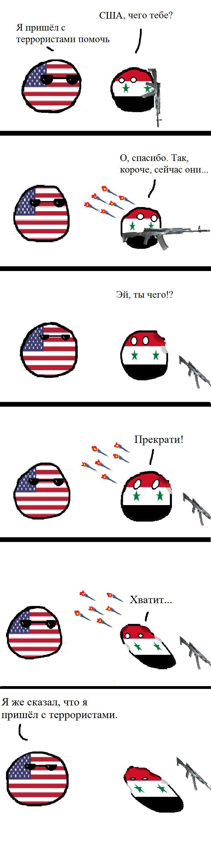 Коалиция во главе с США нанесла третий удар по проправительственным силам в Сирии США, Сирия, countryballs, терроризм, политика, длиннопост