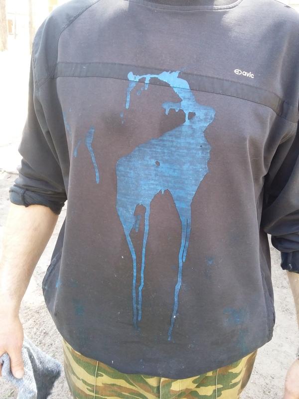 Оленёнок )) Товарищ нечаянно разлил на себя краску