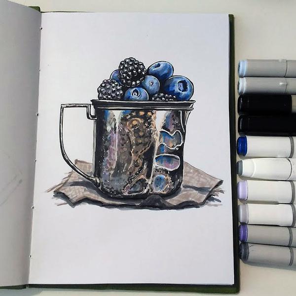 Рисунки маркерами маркер, рисунок маркером, спиртовые маркеры, рисунок, длиннопост