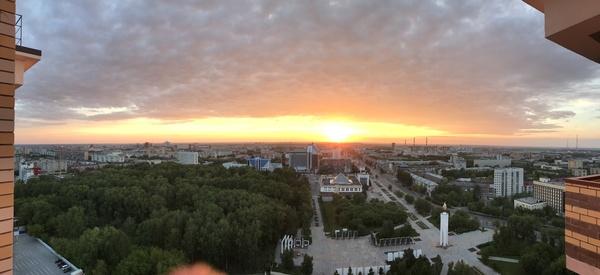Рассвет в Тюмени.
