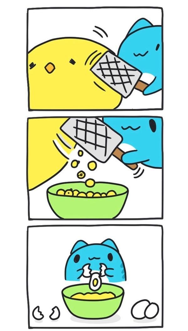 Пицца! BugCat-Capoo, бракованный кот, кот, Комиксы, пицца, готовка, хвост, цыплята, длиннопост