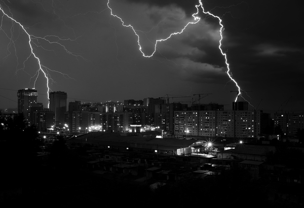 Гроза в Красноярске