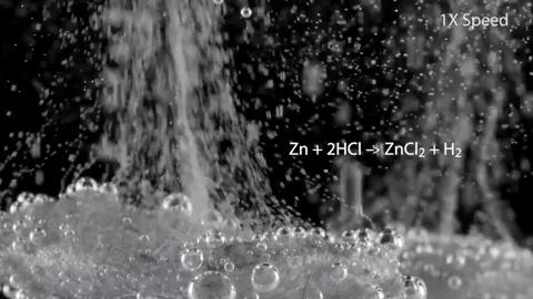 Цинк в гифках Цинк, Металл, Гифка, Химия, Лига химиков, Эксперимент, Реакция, Длиннопост