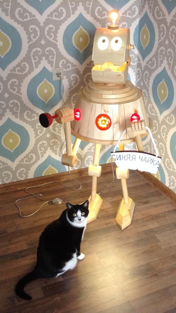 Дауншифтер с Шелезяки. Робот, светильник, работа с деревом, Кир Булычев, Шелезяка, спасибо дорогой пришелец, своими руками, длиннопост