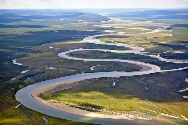 Дорога на Оленёк Якутия, природа России, полёт на вертолете, реки Якути, фотография, длиннопост
