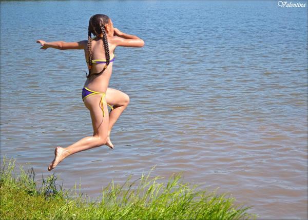 Лето! Лето, Полет, Косички, Прыжок, Фотография