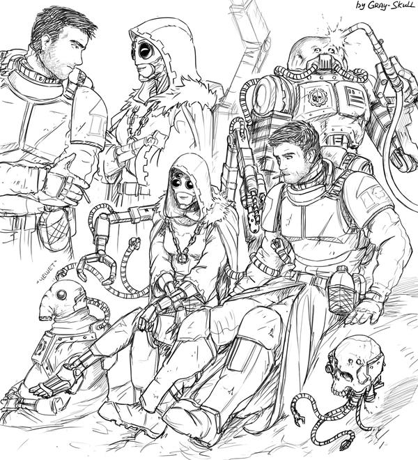 Максимально неадекватные сервиторы (by Gray-Skull) Warhammer 40k, techpriest, adeptus mechanicus, имперская гвардия, романтика, арт, Картинки, Gray-Skull