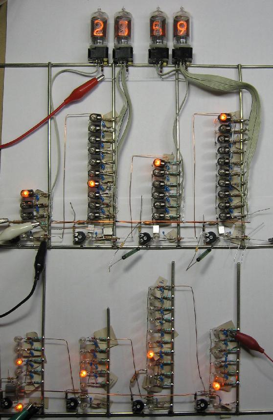 Часы на ламповых индикаторах, без Arduino ламповость, ламповый индикатор, ламповые часы, Часы на ламповых индикаторах, без Arduino, радиолюбители, видео, длиннопост