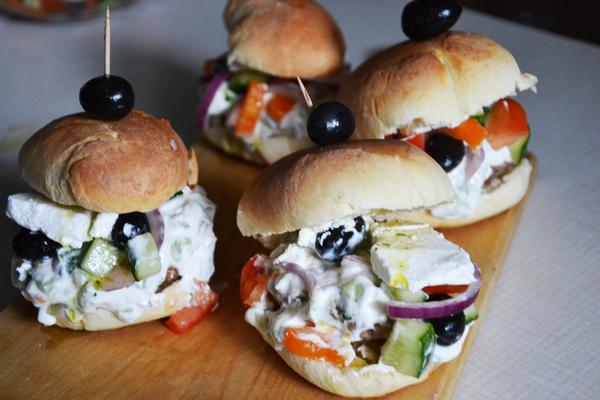 Греческий бургер бургер, Греция, SonOfRocketman, Dinoburger, мясо, еда, Рецепт, длиннопост
