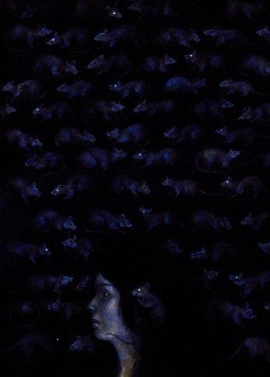 """Иллюстрации Яны Хейдерсдорф из лимитированного издания романа Стивена Кинга и Оуэна Кинга """"Спящие красавицы"""" от Cemetery Dance Publications. стивен кинг, ужасы, иллюстрации, Картинки, длиннопост"""