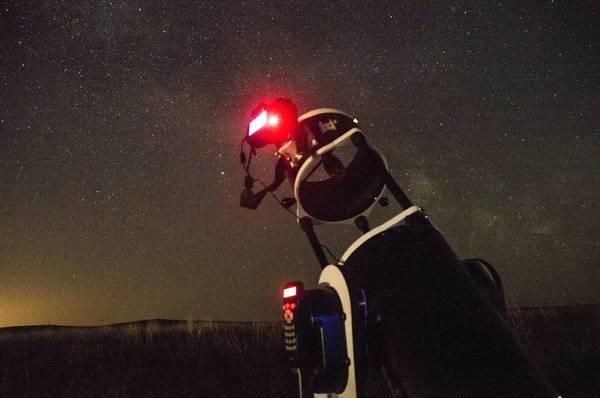 Мобильная астрономическая обсерватория астрономия, космос, телескоп, звёзды, ночь, Небо