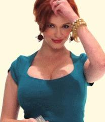 Кристина Хендрикс и её богатство красивая девушка, Рыжая, Сиськи, грудь, фотография, гифка, Кристина Хендрикс, длиннопост
