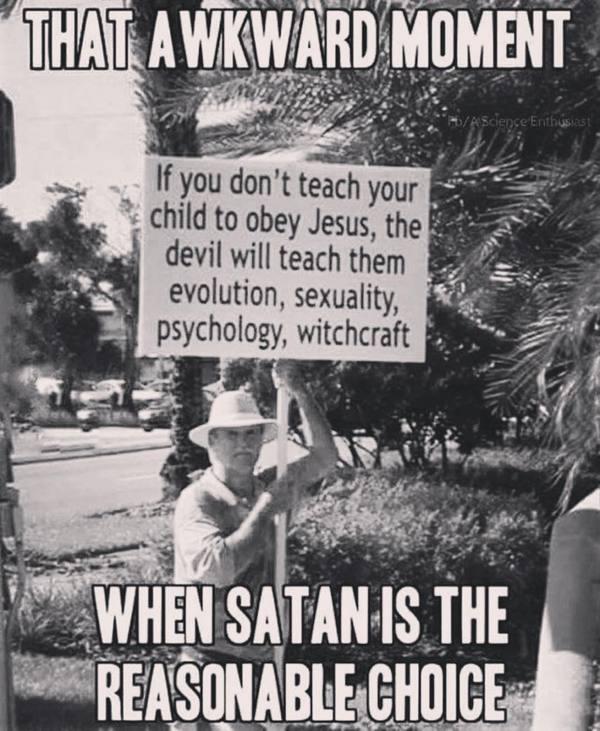 Этот неловкий момент... религия, вера, дьявол, сатана, иисус, выбор, юмор, instagram