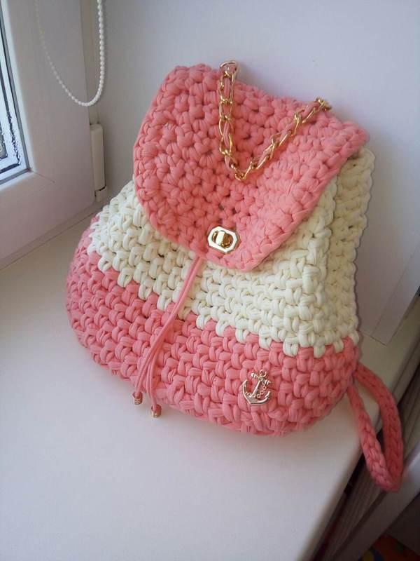 Рюкзак крючком рюкзак, вязание крючком, длиннопост