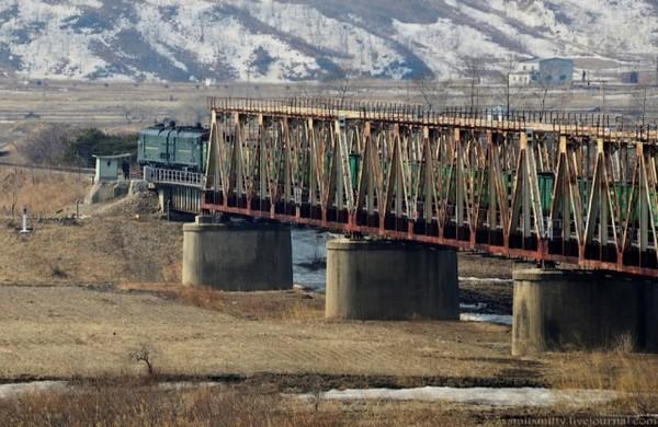 Российско-северокорейская граница северная корея, Россия, граница, мост, длиннопост