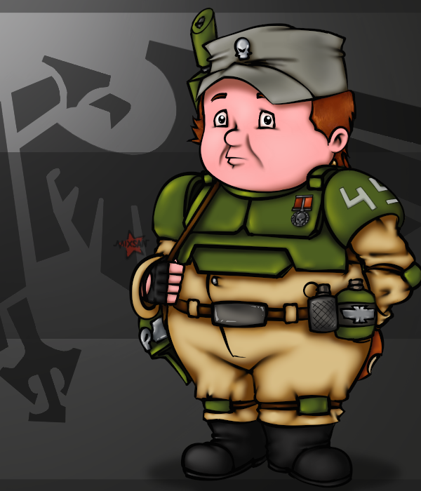 Гвардеец Пончикус готов к службе!