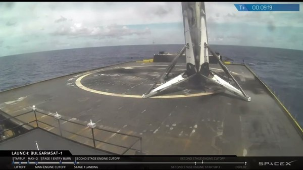 Успешная посадка. spacex, Falcon 9, Болария, Илон Маск, ракета-носитель, Многоразовая ракета, космос, лента