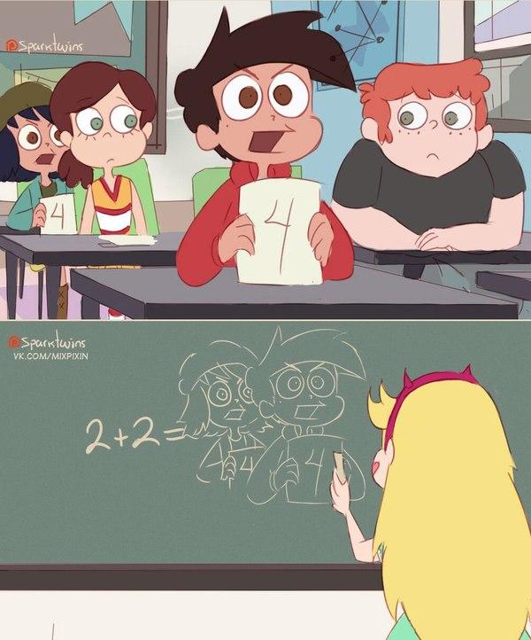 Алгебра Учеба, Школа, Подсказка, Star vs forces of evil, Комиксы