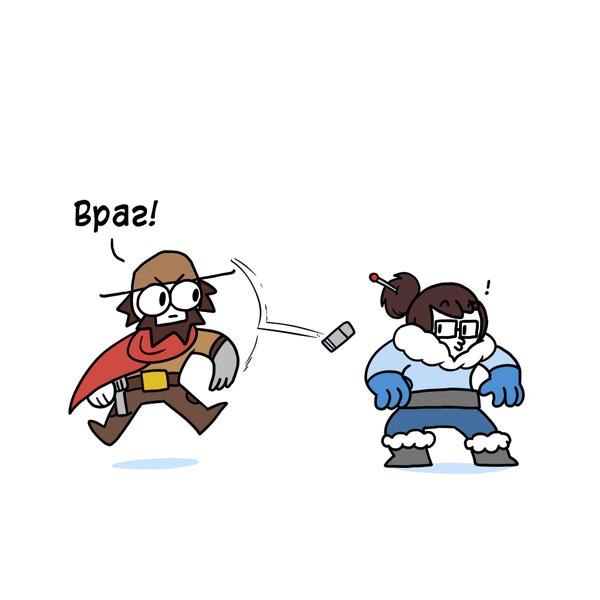 Что-то авторов потянуло Overwatch рисовать. Сначала ThePigeonGazette, теперь и Icecreamsandwich подключился. Комиксы, icecreamsandwichcomics, Игры, overwatch, длиннопост