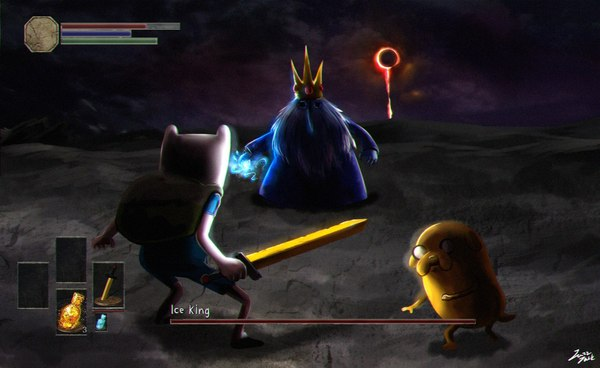 Adventure Time vs Dark Souls