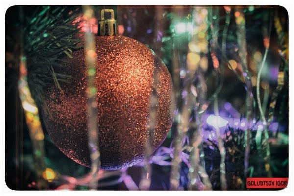 Когда ещё вспомнить Новый Год, как не летом Новый Год, Canon 1100d, ёлка